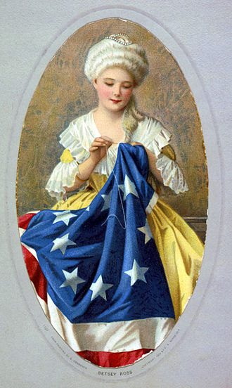 Folklore of the United States - Betsy Ross sewing