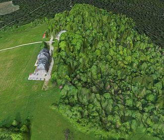 Digital elevation model - Bezmiechowa airfield 3D Digital Surface Model obtained using Pteryx UAV flying 200 m above hilltop