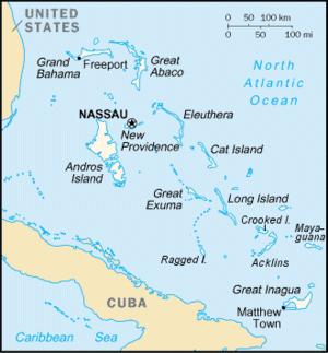 Acklins - Map of the Bahamas