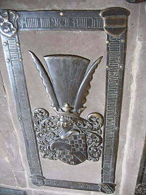Sibylle of Baden - Grave stone of Sibylle in the City Church of St. Nicholas in Babenhausen