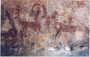 A rock painting at Bhimbetka, India, a World heritage site