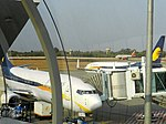 Bhopal airport, showing multiple aircrafts taxiing .jpg
