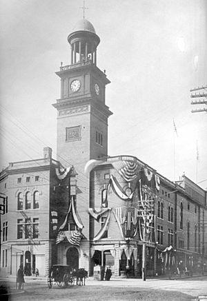 Biddeford, Maine - Town hall circa 1855.