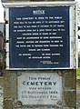 Bideford cemetery - notice and plaque - geograph.org.uk - 1159479.jpg