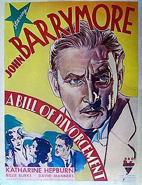 Description de l'image Bill of Divorcement 1932 poster.jpg.