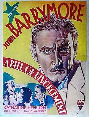 A Bill of Divorcement (1932 film) - Window card poster