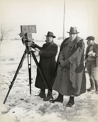 Way Down East - Billy Bitzer and D. W. Griffith on location