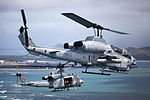 Birds of paradise, Marine attack, transport helicopters take flight over Hawaiian Islands 130613-M-MM918-015.jpg