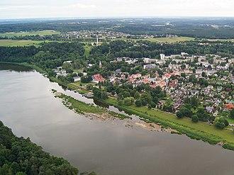 Birštonas - Image: Birstonas by air 1rhb