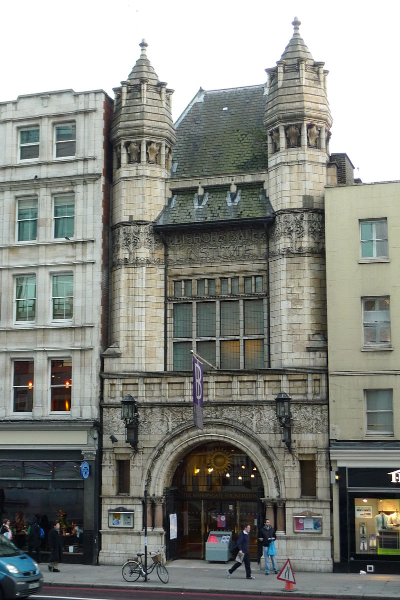 Frontage of the Bishopsgate Institute in London
