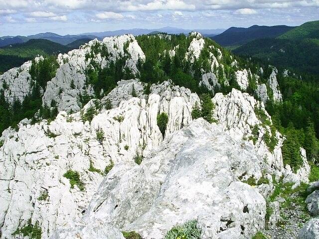 Bjele stijene - vapencove skalni mesto