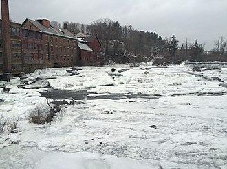 Black River (Connecticut River tributary) - Black River Falls in winter, 2016