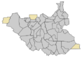 Blank map of South Sudan Counties (-2015).png