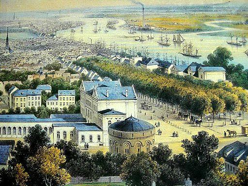 Blick über Altona 1850 Stich