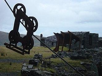 Blondin (quarry equipment) - A Blondin ropeway near to Dinorwig, Gwynedd, in Great Britain
