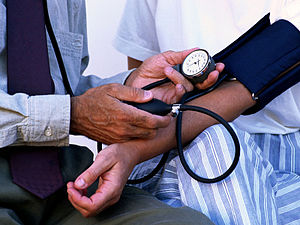 Blood pressure measurement.