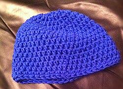Blue knit-cap beanie by RobertLender.jpeg
