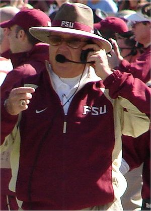 "1996 Florida Gators football team - ""We just hit to the echo"" said FSU coach Bobby Bowden (pictured)"
