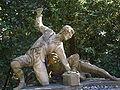 Boboli, terzo incrocio del viottolone, Orazio Mochi e Romolo del Tadda, i giocatori del saccomazzone (1780) 02.JPG