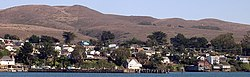 Bodega Bay in 2008, seen from across the harbor