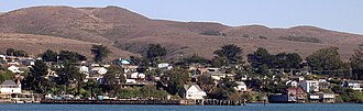 Bodega Bay, California - Bodega Bay in 2008, seen from across the harbor
