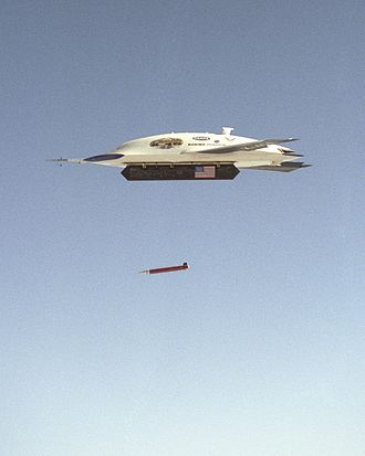 Boeing X-45 - X-45 deploying a GPS-guided bomb