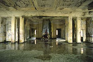 Bokor Hill Station - Inside the worn down Bokor casino