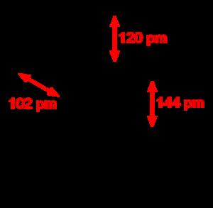 Borazine - Image: Borazine dimensions 2D