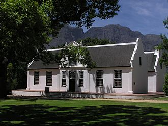 Boschendal - Le Rhone House, one of several early 19th century buildings on the farm in the Cape Dutch style