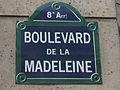 Boulevard de la Madeleine, 3 August Paris 2014.jpg