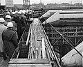 Bouw IJtunnel Het booreiland in het IJ Interieur van de verkeerskokers, Bestanddeelnr 915-6056.jpg