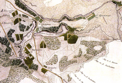 Село Сабурово на карте 1818 года