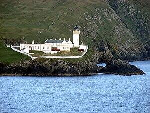 Bressay - Bressay Lighthouse at Kirkabister Ness overlooking Bressay Sound
