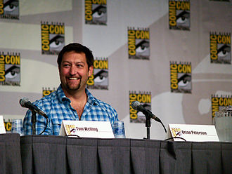 Brian Wayne Peterson - Peterson at 2010 Smallville Comic-Con panel
