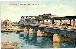 Charlestown Bridge - Image: Bridge 1912