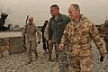 Brigadier Simon Levey walks with U.S. Army Lt. Gen. David M. Rodriguez at the Kabul Military Training Center (4305720633).jpg
