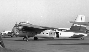 Silver City Airways - Silver City Bristol 170 Mark 21 Freighter at Manchester Airport in May 1955
