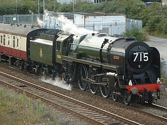 BR Standard Class 7 70000 Britannia - At Severn Tunnel Junction in 2012