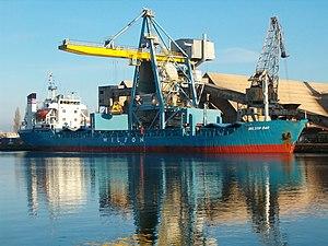 English: Bulk Cargo Ship 'Wilson Bar' in Gdans...