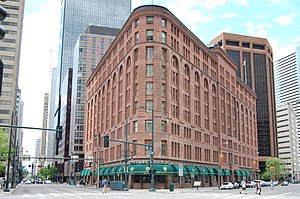 Brown Palace Hotel (Denver, Colorado) - The Brown Palace Hotel, with the 1959 annex tower visible behind it on the left.