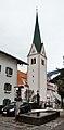 Brunnen hl. Florian & Pfarrkirche hl. Rupert, Stumm.jpg