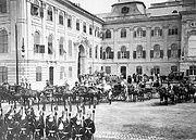 Buda Royal Castle western courtyard 1880