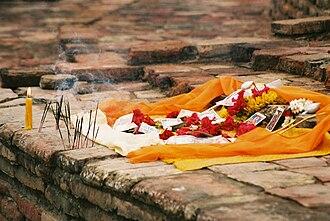 Vaishali (ancient city) - A Buddhist shrine amidst the Vihara, Vaiśālī