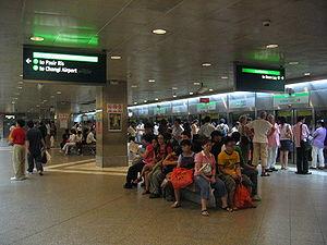 Bugis MRT Station - EWL Platform of Bugis.
