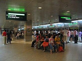 Bugis MRT station - EWL platform of Bugis