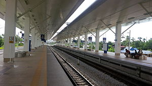 Bukit Mertajam railway station - Platforms of the new Bukit Mertajam Railway Station
