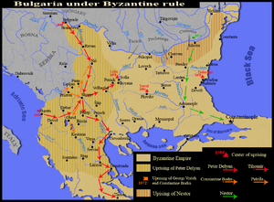 Uprising of Georgi Voyteh - Bulgaria under Byzantine rule. Uprising of Georgi Voyteh