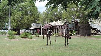 Banana, Queensland - Bull statue, Banana State School, 2014