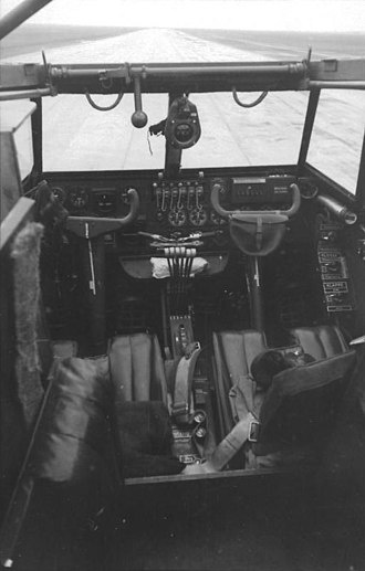 Messerschmitt Me 323 - View into the cockpit of the Me 323.