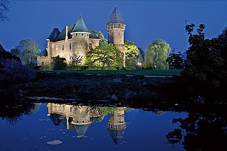 Krefeld - Castle Linn at Night